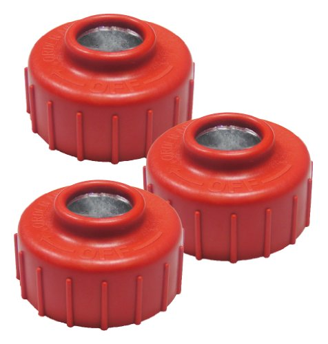 Ryobi RY34421 Homelite UT33600 Trimmer Replacement (3 Pack) Left Handed Thread Spool Retainer # 308042003-3pk ()