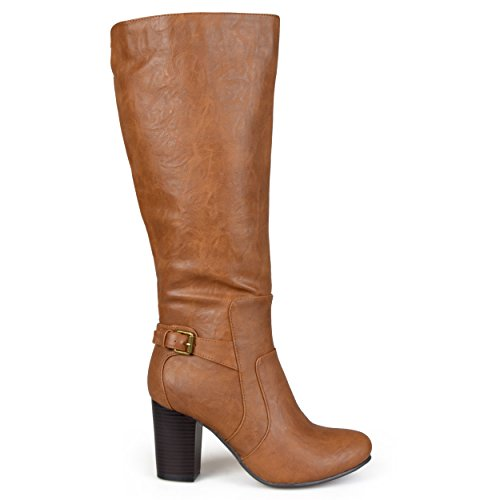 Brinley Co Women's Jimmi Boot, Tan, 7 Regular (Tan Leather High Heel)