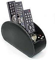 Fosinz Remote Control Holder Organizer Phone Pad Table Desk Leather Control Storage TV Remote Control Organizer with 5...