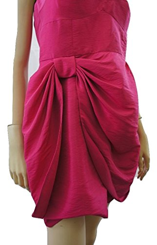 Lazo de satén de Dusk de Shimmer–Bandeau Vestido de noche Rosa