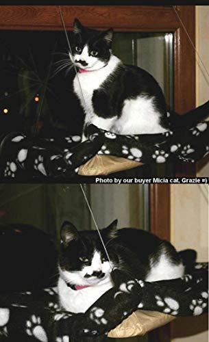 JZK/® Hamaca para gatos,cama colgante de ventana asiento para mascota