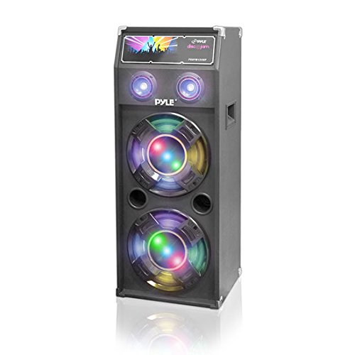 PYLE PSUFM1240P 1400-Watt Dual Passive DJ Speaker System with Flashing DJ Lights by Pyle