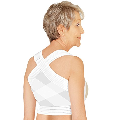 - Lightweight Sweat-Free Posture Support, White, Large - Made in The USA