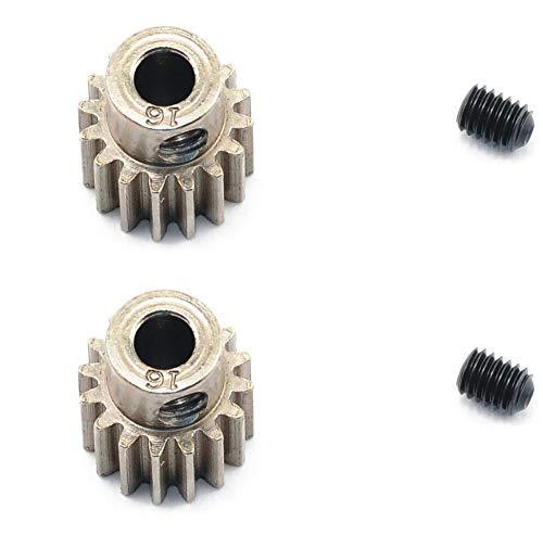 Traxxas 2416 Pinion Gear 16T 48P (2pcs) Slash 2WD Rustler Stampede Bandit VXL XL5 ()