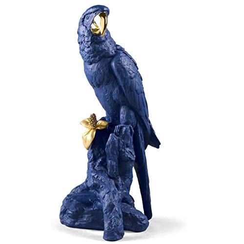 (Lladro Macaw Bird Sculpture Blue Gold Limited Edition 01009401)