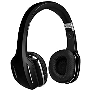 AUSDOM M07 On-Ear Wireless Bluetooth Headphones with Microphone Foldable and Lightweight Headsets Compatible with Cell phones and other Bluetooth devices(Black)