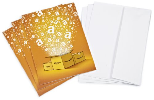 Amazon.com $15 Gift Cards, Pack of 3 with Greeting Cards (Amazon Surprise Box Design)
