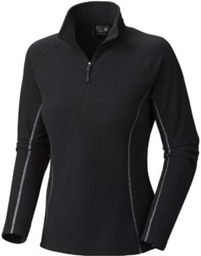Mountain Hardwear Unisex Microchill Zip T, Black, Medium