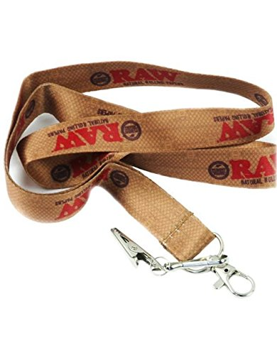 Raw Rolling Paper Lanyard with Special Clip - Includes a TSC Sticker