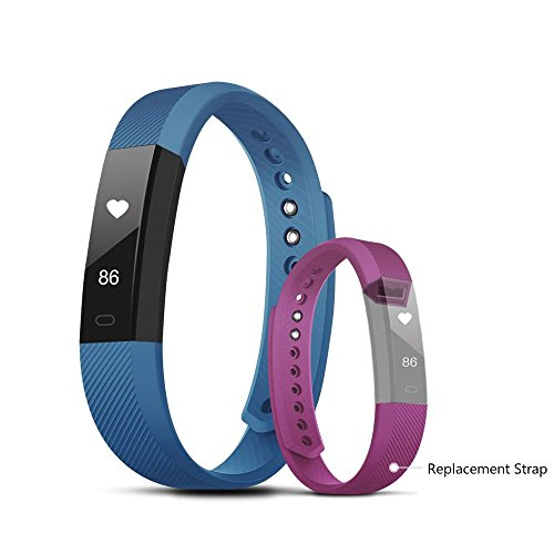 Fitness Tracker, Evershop Smart Fitness Activity Tracker with Pedometer Sleep Monitor Calorie/Step Counter for Android IOS (Blue+Purple)