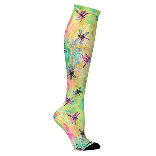 Nurse Mates Accessories - Nurse Mates Women's Linda Altshuler 12-14 Mmhg Compression Socks Dragonfly