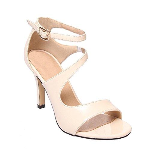 Sommer Tipp high-heel Schuhe fein mit Sandalen eine große Anzahl von Frauen Schuhe, beige, 46 Header