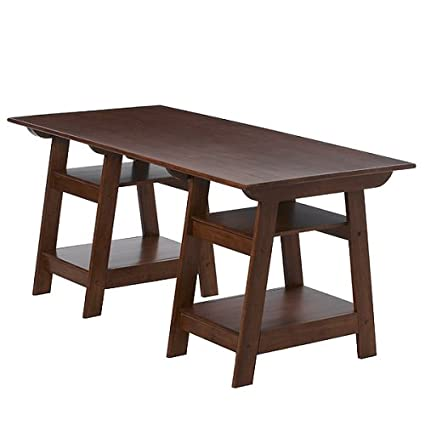 Madison Large Trestle Desk - Antique Walnut - Amazon.com: Madison Large Trestle Desk - Antique Walnut: Kitchen