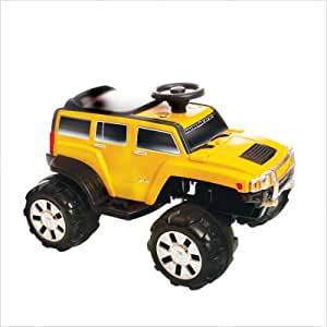 Hummer H3X-6V-X Hummer H3X Oversized Wheels Battery-Powered Ride-On Toy Color: Yellow