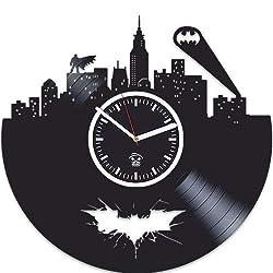 Kovides Vinyl Record, Gift for Kids, Batman Vinyl Wall Clock, Best Gift for Boyfriend, Home Decor, Unique Design, DC Comics, Movie, Nursery Decor, Gotham City, Arkham Knight