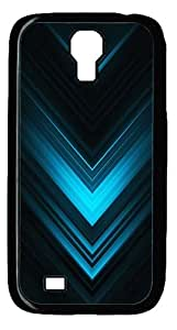 Abstract Blue Arrows Case Cover for Samsung Galaxy S4 / SIV / I9500 - PC - Black