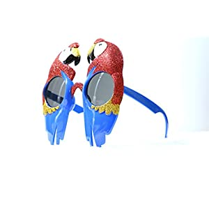 Shiny animal parrots shaped party eyewear