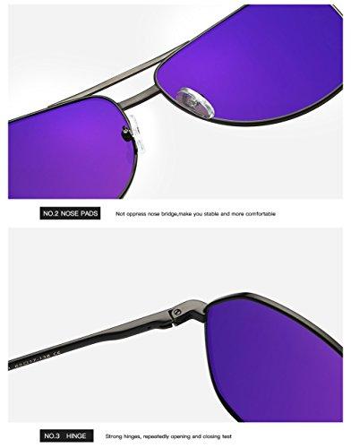 Sol para Aviator Gafas C1 Hombre 400 C2 UV Mujer Protección para De Polarizadas anqff5S