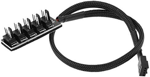 Computer Cables Computer Case Fan PWM Hub Fan HUB Extended Line Computer Cables /& Connectors PWM 4P Patch Cord Cable Length: 0.35m, Color: 1 Point 4