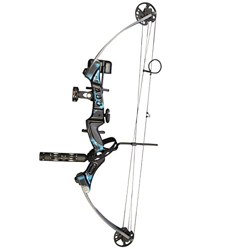 Southland Archery Supply SAS Primal 35-50 lbs Target Compound Bow 40 1/2 ATA with Red Riser and Carbon Limbs (Blue with Pro Package)