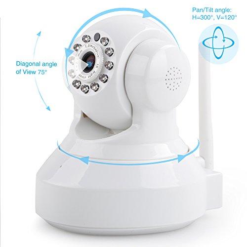 Foscam FI9816P/W - Cámara IP de vigilancia, de interior, 1 MP, 720p, H264, WIFI, seguridad, alarma detección movimiento, visualización remota,...