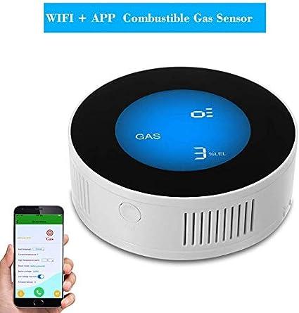 Gas Detector Sensor Alarm Natural Leak CO2 Monoxide Carbon 85dB LCD Smart Siren