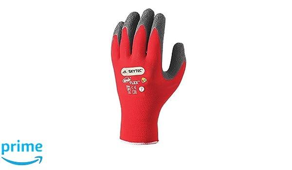 Skytec guantes sky19-s Ninja Flex guantes, tamaño: S, rojo ...