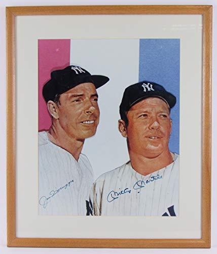 - Mickey Mantle Joe DiMaggio Signed Auto Autograph Framed 16x20 Photo JSA Z85204
