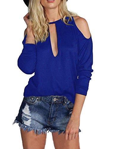 Allegrace Women Shoulder Shirts Fashion