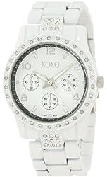 XOXO Women's XO5436 Rhinestones Accent White Bracelet Watch