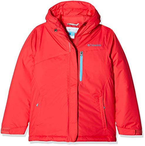 Columbia Kid's Alpine Free Fall Ski Jacket, Red Camellia, Atoll, Large
