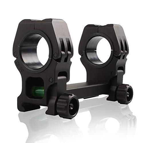 Scope Rings 1 Inch 25.4mm Riflescope Optic Mounts with Bubble Level QD high Profile Rifle Rings for Weaver Picatinny Rail Hunting Shooting
