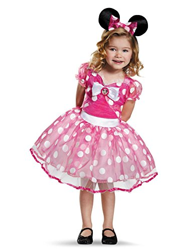 Pink Minnie Tutu Deluxe Costume, Medium (3T-4T) -