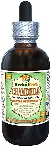 Chamomile Matricaria Recutita Glycerite, Organic Dried Flowers Alcohol-Free Liquid Extract 2 oz