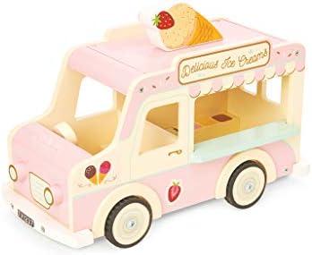 Le Toy Van Sophie's Holzauto, klassischer ikonischer Retro-Stil, Spielzeug-Fahrzeug mit Gepäck und offener Oberseite