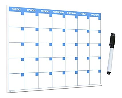amazon com 11x17 large monthly dry erase magnetic calendar with