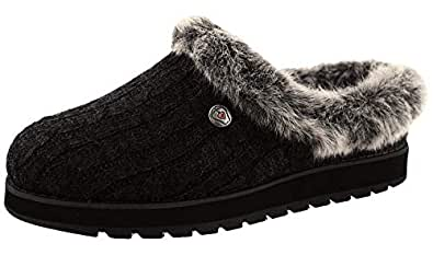 Skechers Womens/Ladies Keepsakes Ice Angel Slip On Mule Slippers (UK Size: 3 UK) (Black)