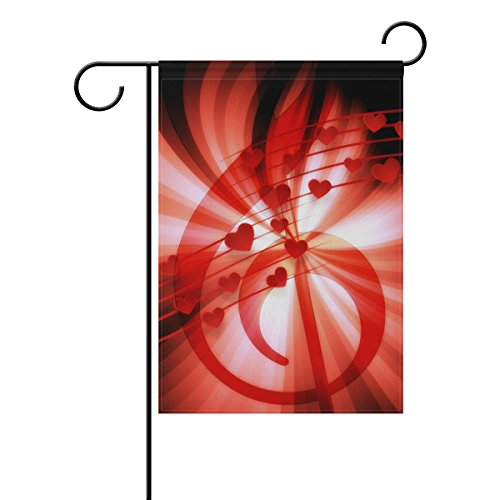 Hulahula Red Music Garden Flag Decorative Banner Home Courty