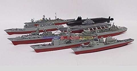 1 Set Plastic Mini Warship Model Kit (8pcs) USS HMS Russian Navy (Gears Of War Mission)