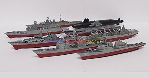 1 Set Plastic Mini Warship Model Kit (8pcs) USS HMS Russian - Uss Virginia Class Submarines