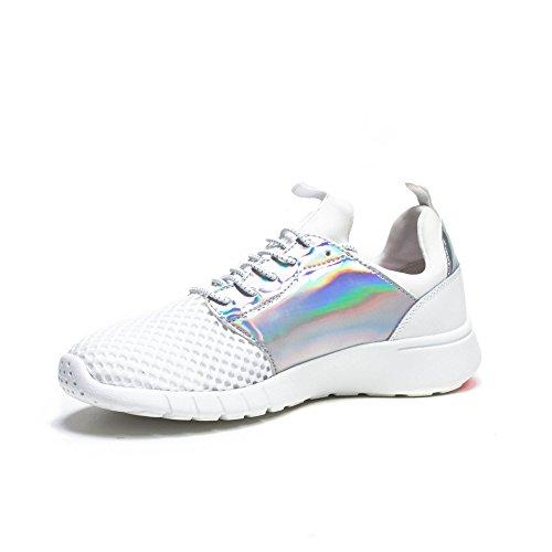 Emporio Armani EA7 Damenschuhe Damen Schuhe Sneakers Turnschuhe racer Weiß