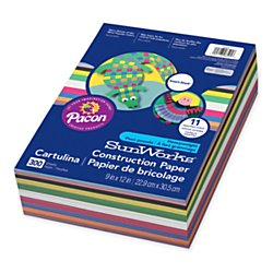 SunWorks Smart-Stack Construction Paper, 9 x 12 Inches, 11 Colors, 300 Count  (6525)