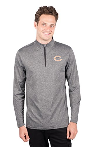 - ICER Brands Men's Quarter Zip Pullover Shirt Athletic Quick Dry Tee, Gray, Heather Charcoal 18, Medium