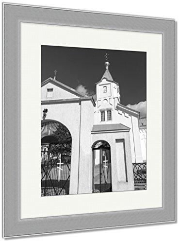 Ashley Framed Prints Catholic Church Belarus, Wall Art Home Decoration, Black/White, 40x34 (frame size), Silver Frame, AG5594722 by Ashley Framed Prints