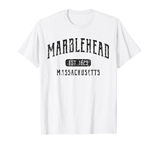 Marblehead T-Shirt Massachusetts Distressed Sports Design