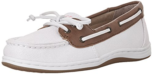Sperry Top-Sider Girls Firefish Boat Shoe,White Sparkle T...