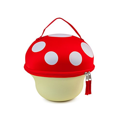 BigMouth Inc Mushroom Lunch Tote, Insulated, Keeps Lunches Cool, Easy to Carry, Fun Kids Lunch Box or Adult Lunch Bag