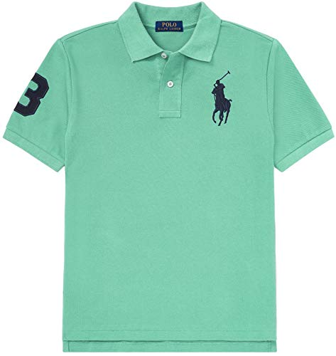 Polo Ralph Lauren Boys Big Pony Mesh Polo Shirt (L (14-16), HavenGreen) Boys Ralph Lauren Button