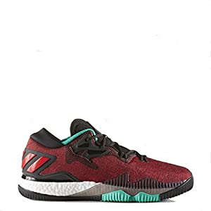 adidas Originals Men's Shoes | Crazylight Boost Low Basketball, Black/White/Shock Mint, (12 M US)