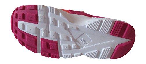 nike huarache run (GS) zapatillas 654280 zapatillas white vivid pink bright citrus pink pow 103